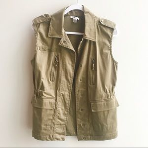 Bar III Olive Green Vest